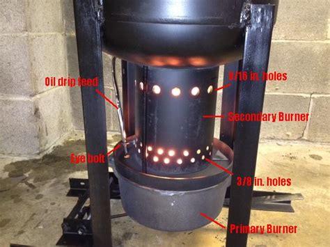 waste oil burning heater for garage tech week build your own waste oil burning garage heater