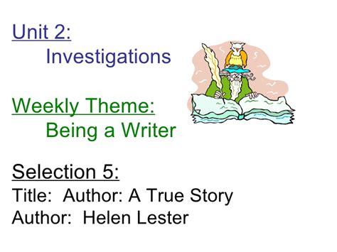 Author A True Story author a true story focus wall
