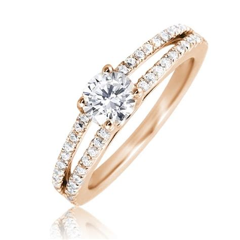 mazal engagement ring with 2 row band