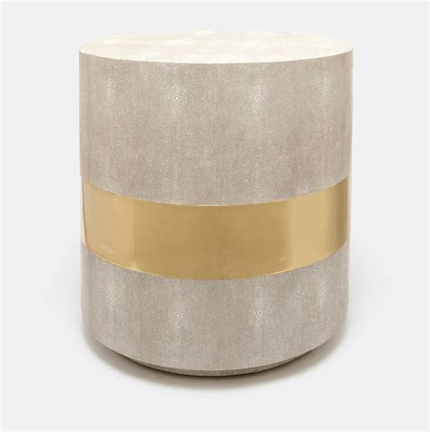 Kitchen Collection Southampton rehm faux shagreen side table mecox gardens