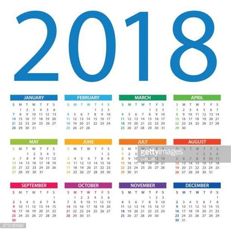 Croatia Kalendar 2018 2018 Stock Illustrations And Getty Images