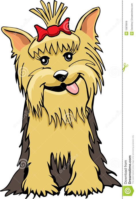 yorkie cartoon royalty free stock photos image 15879918