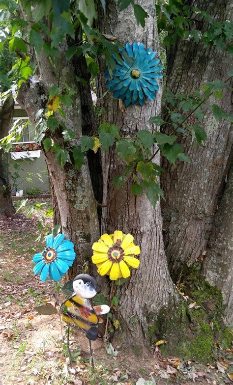 creative metal yard art  gardening cook