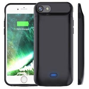 rechargeable extended battery portable charging for iphone plus 8 7 6s 6 x ebay