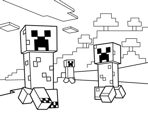 minecraft coloring pages monsters creepers pdf printable coloring page minecraft emma