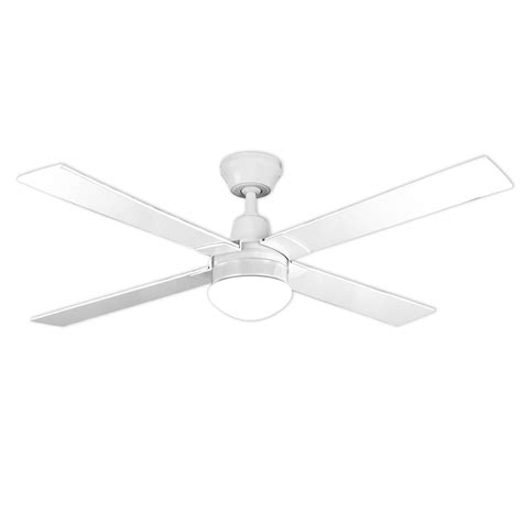 3 Blade Ceiling Fan With Light by Arlec 120cm 4 Blade White Ceiling Fan With Oyster Light