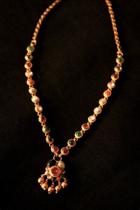 simple jewellery design alert a simple navaratna necklace jewellery