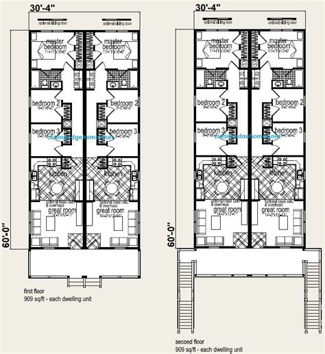 4 plex floor plans modular homes multi family polk 4 plex