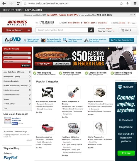 best ecommerce websites best ecommerce websites autoparts warehouse dominates a