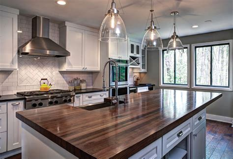 Walnut Kitchen Island by Walnut Countertops J Aaron