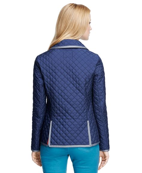 Brothers Quilted Jacket by Brothers Sleeve Quilted Jacket In Blue Lyst