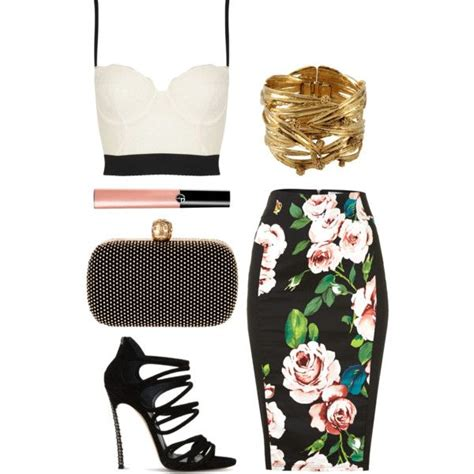 quot crop top pencil skirt quot by priyankakhosla on polyvore