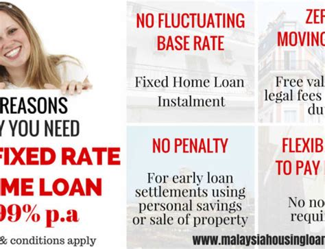 malaysia housing loan rate 4 99 fixed rate home loan with zero moving cost