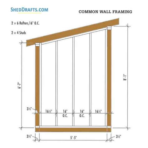 lean  firewood storage shed plans blueprints