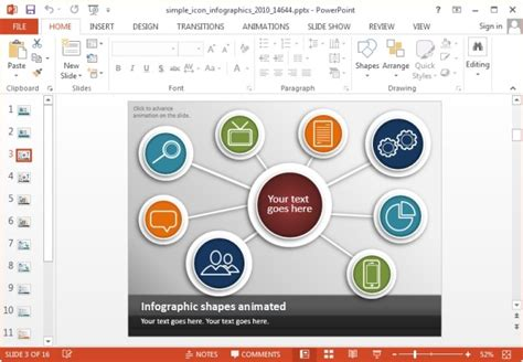 Simple Icons Infographic Template For Powerpoint And Keynote Slides Infographic Template
