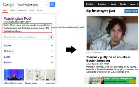 mobile washington post which publishers will be hit by google s mobile update