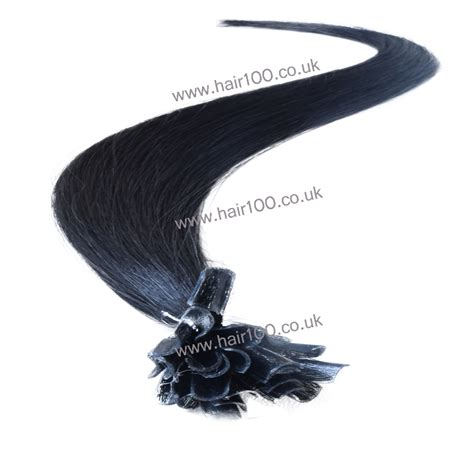 pre bonded i tip for micro links the hair extension boutique pre bonded hair extensions jet black nail tip from hair100