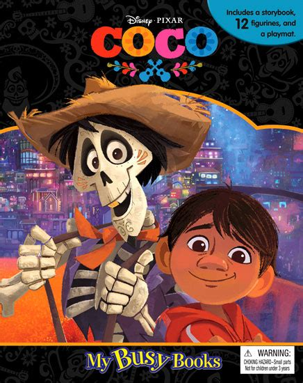 Buku Anak My Busy Book Disney Whisker Tales my busy book disney pixar coco includes a storybook 12 figurines and a playmat