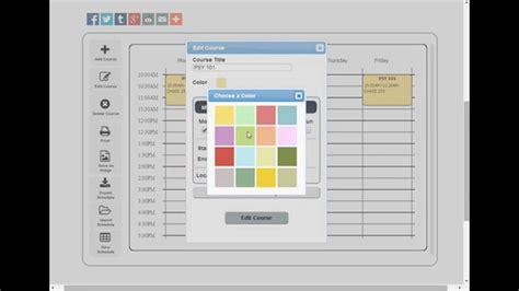 online design teacher free college schedule maker builder online app youtube