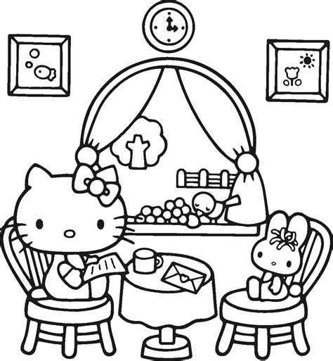 kitten valentine coloring page free printable hello kitty coloring pages for kids