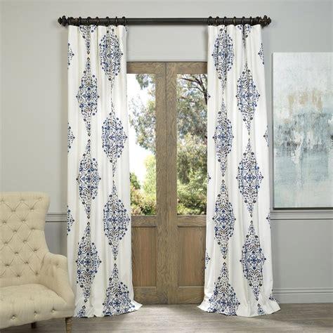 108 drapery panels shop exclusive fabrics furnishing kerala 108 in blue