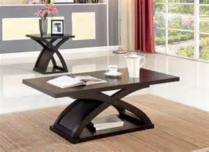 Coffee And End Table Set Cm4641 Arkley Coffee Table 2 End Tables 3pc Set In Espresso