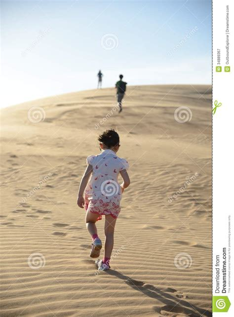 Kingston Following In His Parents Footsteps by Walking Through The Desert Following Family