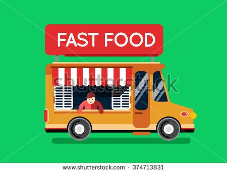 City Kitchen Food Truck by Food Truck Vector Illustration Food Stock Vector