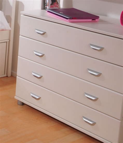 Stompa Drawers by Stompa 4 Drawer Chest With Metal Handles