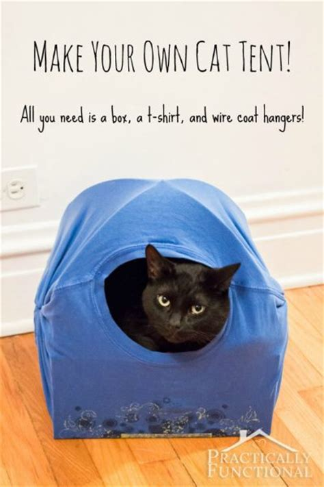 cat tent bed diy cat tent from a box and t diy free engine image for