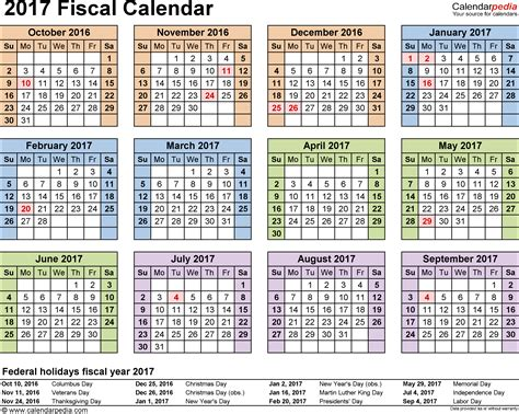 U S Economic Calendar Fiscal Calendars 2017 As Free Printable Word Templates