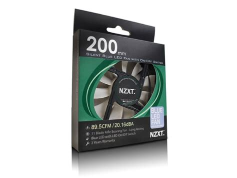 Nzxt Fs 200rb 20cm Fan Led Blue nzxt silent riffle fan 200mm blue fs 200rb bled fs