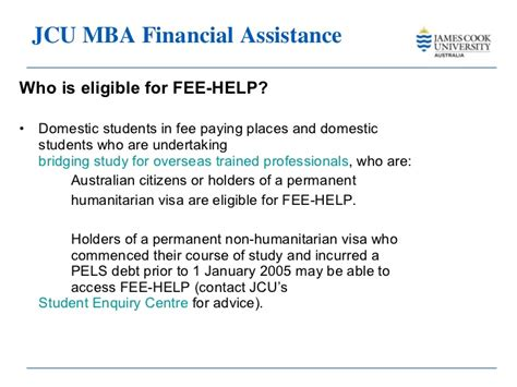 Jcu Australia Mba by Master Business Administration Cook 2011