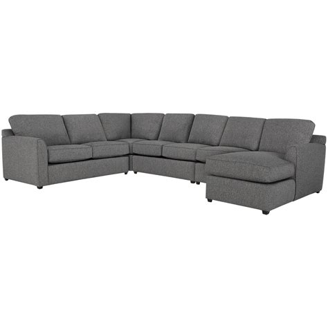 large gray sectional city furniture asheville gray fabric large right chaise