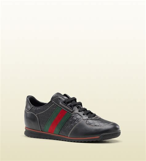 gucci sneakers gucci sl73 lace up sneakers in black micro