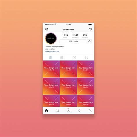 Instagram Profile Mockup Psd File Premium Download Instagram Mockup Template