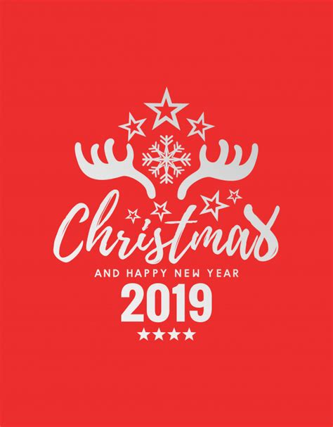 merry christmas  happy  year  vector premium