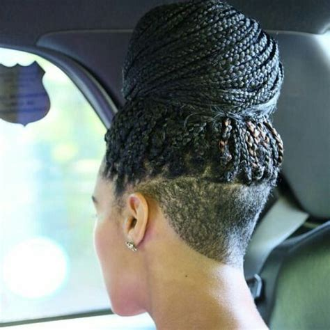 Saved Hair In The Back And Box Braids In The Front | 682 best images about box braids locs twists on