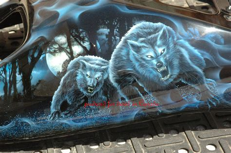 Airbrush Motive Motorrad by Custom Airbrush Paint Motorcycle Designs Animals By Bad