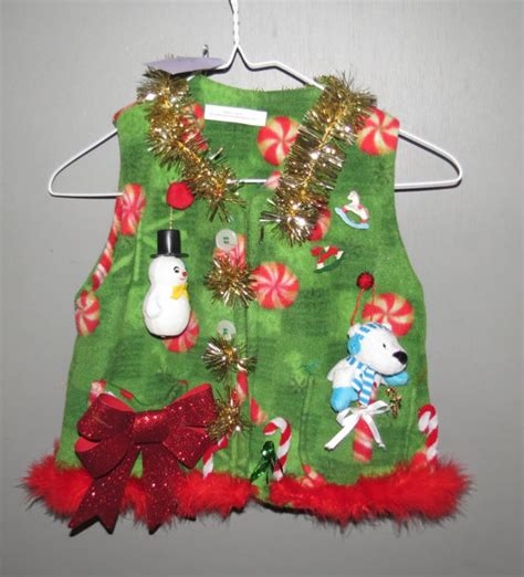 images of ugly christmas sweaters homemade homemade tacky ugly christmas sweater vest by