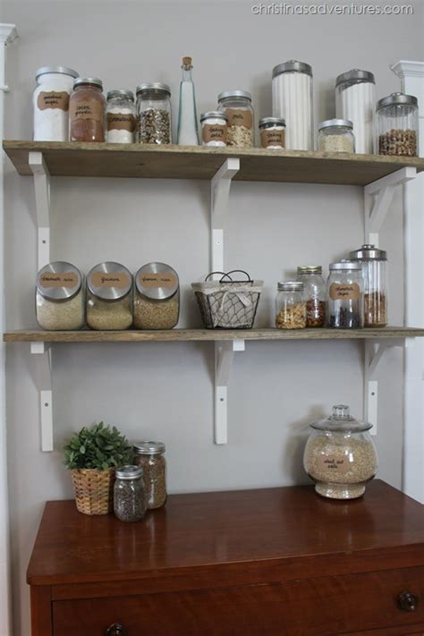 Open Shelf Pantry by Open Shelving Pantry Christinas Adventures