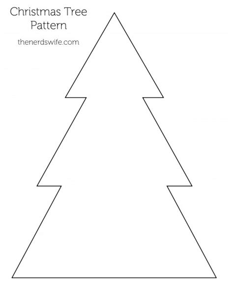 best photos of simple christmas tree outline simple