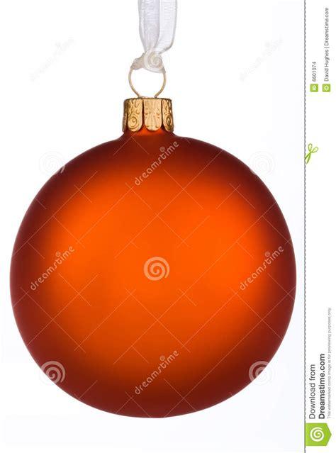 vibrant orange christmas bauble stock images image 6601074