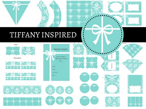 tiffany party package magical printable