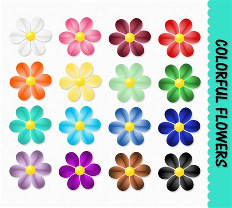 printable scrapbook flowers flowers clip art graphics flower clipart scrapbook colorful