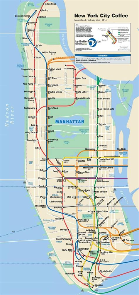 subway map of manhattan with streets ride stop sip repeat the manhattan subway station