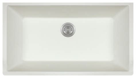 mr direct 848 white large single bowl undermount