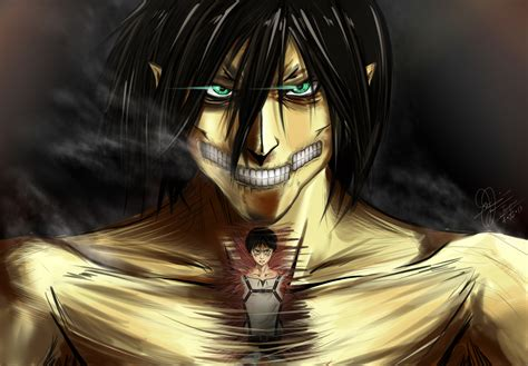 self eren from attack on titan titan form cosplay attack on titan wallpaper eren wallpapersafari