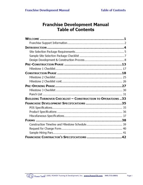 store operations manual template powertd franchise feasibility consultants advantages of