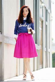 Image result for stripe pencil skirt